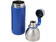 Медная спортивная бутылка с вакуумной изоляцией Koln объемом 590 мл, cиний, фото 3