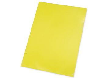 Папка- уголок, для формата А4, плотность 180 мкм, желтый матовый