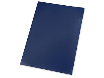 Папка- уголок, для формата А4, плотность 180 мкм, синий матовый
