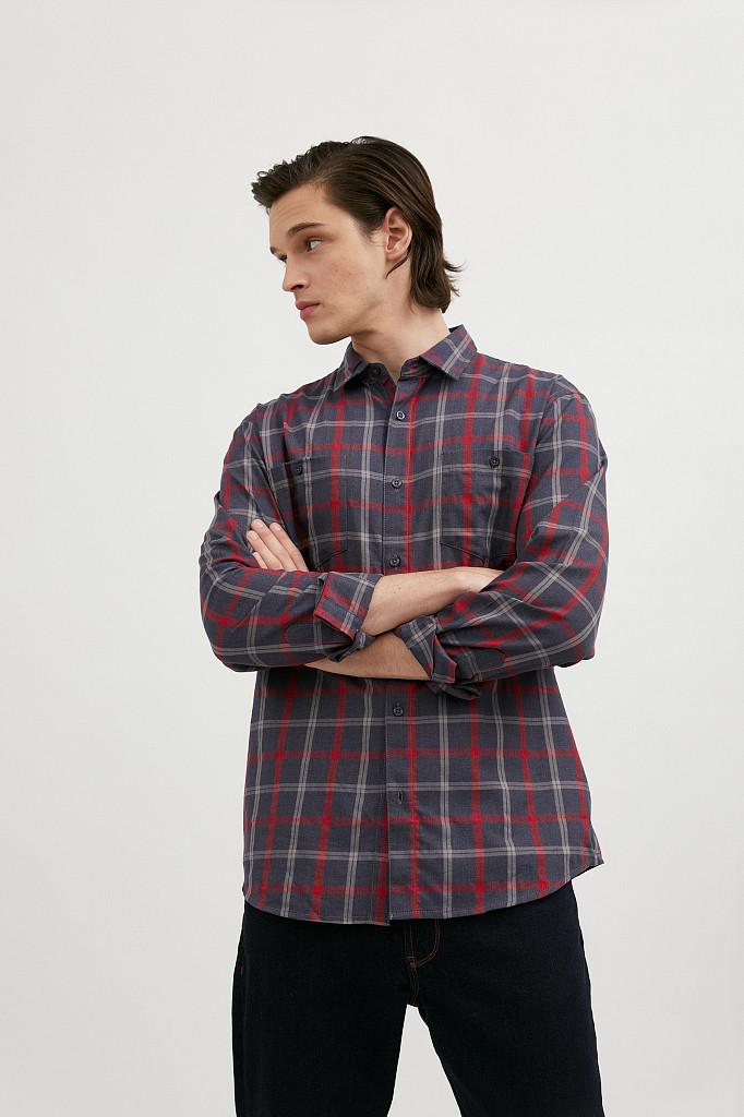 Рубашка мужская Finn Flare, цвет темно-синий, размер XL - фото 2