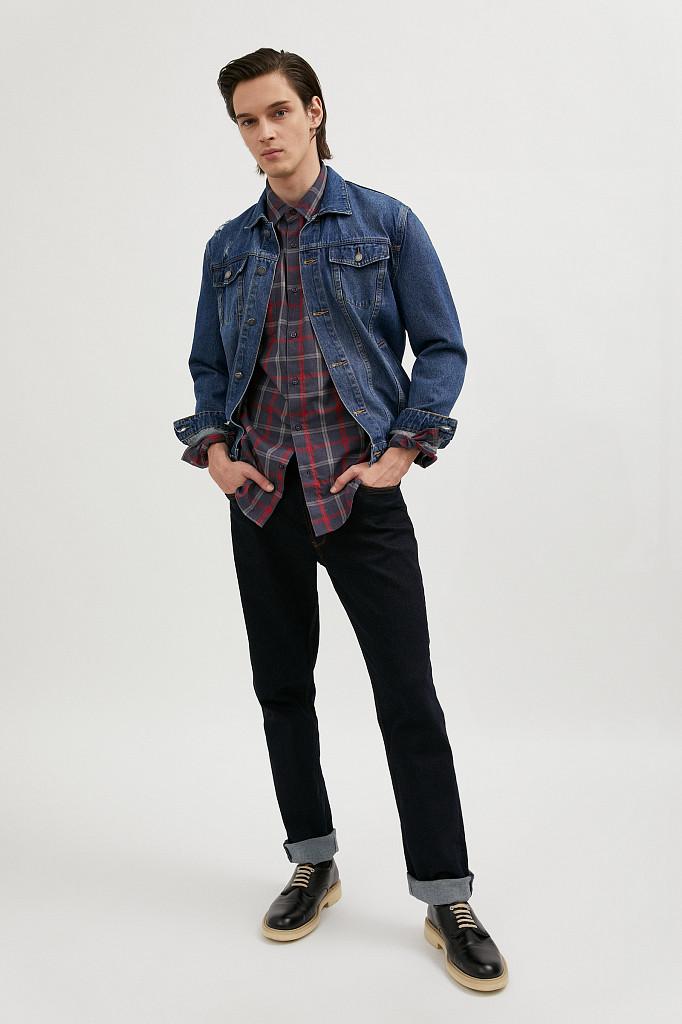 Рубашка мужская Finn Flare, цвет темно-синий, размер XL - фото 3