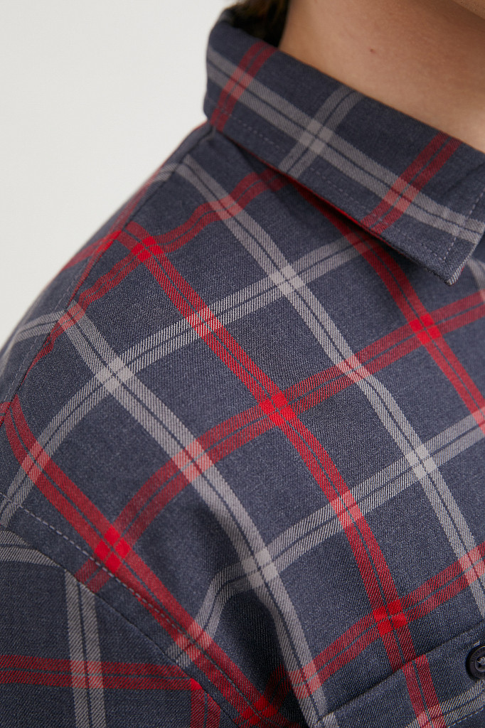 Рубашка мужская Finn Flare, цвет темно-синий, размер XL - фото 6