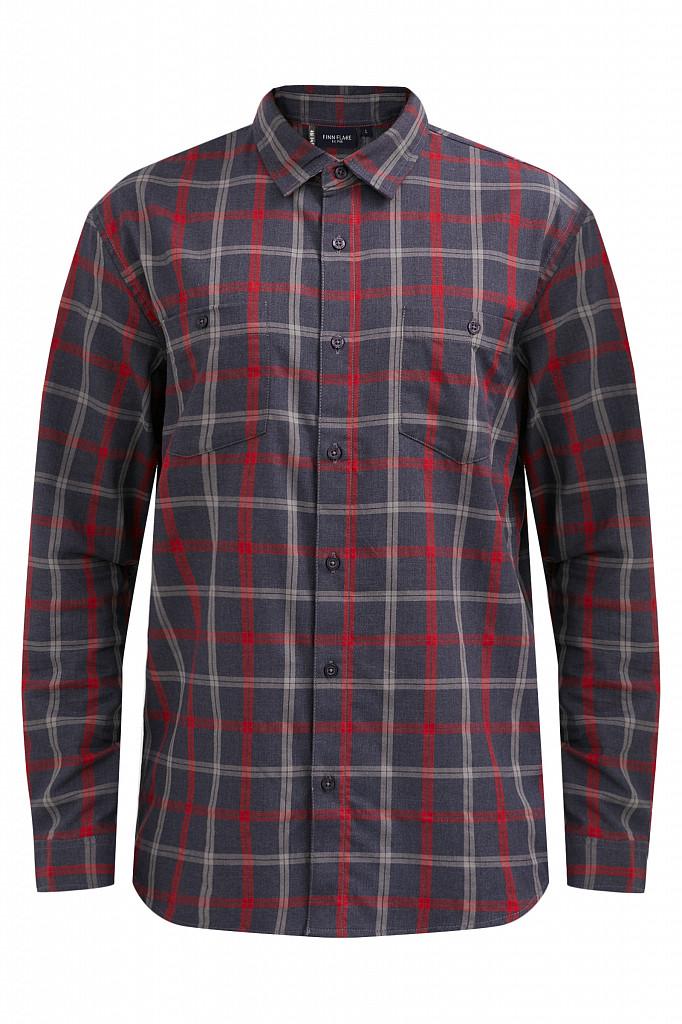 Рубашка мужская Finn Flare, цвет темно-синий, размер XL - фото 7