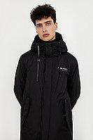 Пальто мужское с принтом с капюшоном Finn Flare, цвет черный, размер XL
