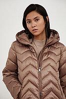 Полупальто женское Finn Flare, цвет коричневый, размер 3XL