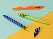 Ручка пластиковая шариковая Mark с хайлайтером, зеленое яблоко, фото 5