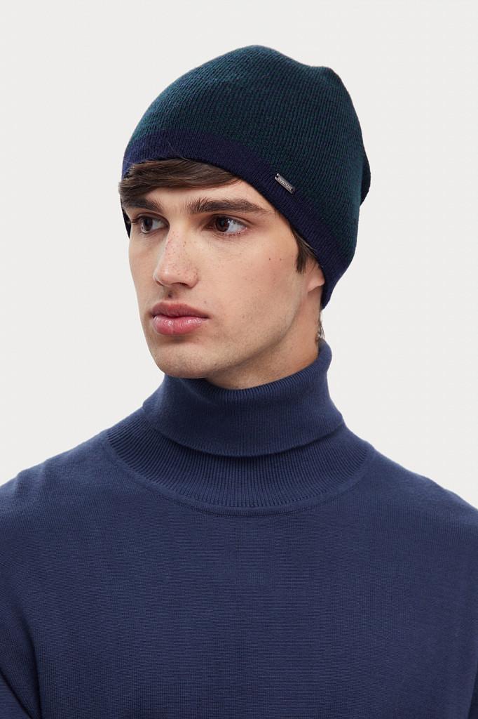 Шапка мужская Finn Flare, цвет темно-синий, размер 58 - фото 2