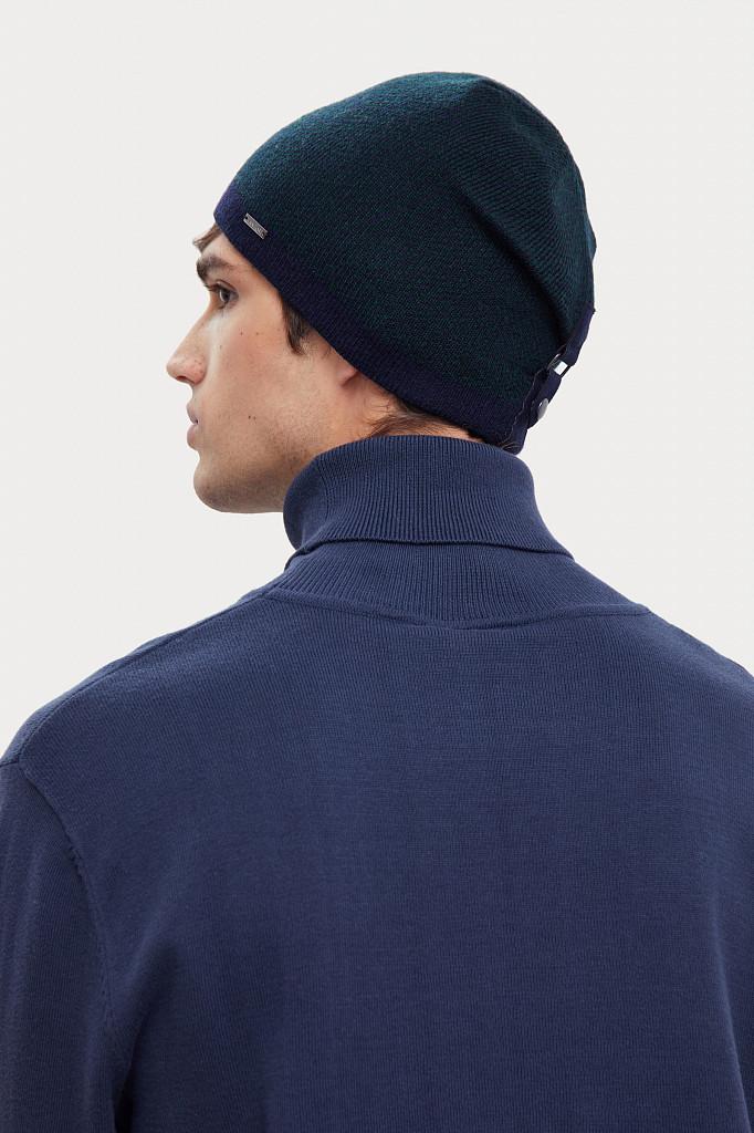 Шапка мужская Finn Flare, цвет темно-синий, размер 58 - фото 3