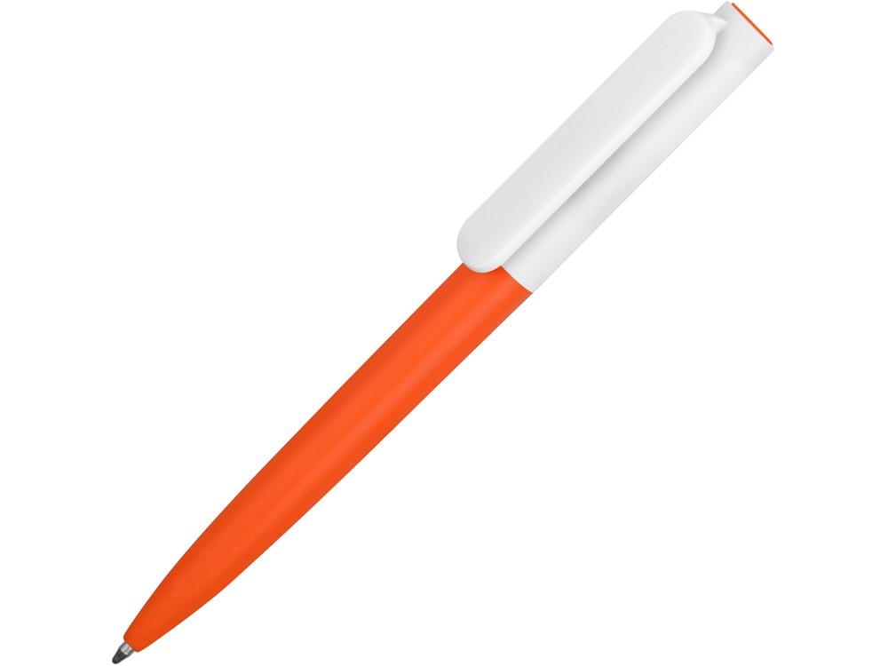 Ручка пластиковая шариковая Umbo BiColor, оранжевый/белый