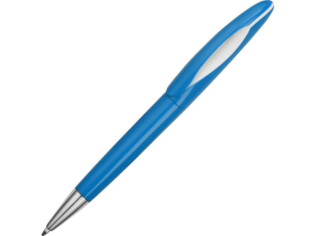 Ручка пластиковая шариковая Chink, голубой/белый