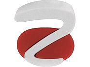Ручка пластиковая soft-touch шариковая Zorro, красный/белый, фото 6