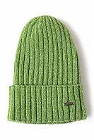 Шапка мужская Finn Flare, цвет неоновый зеленый, размер 58