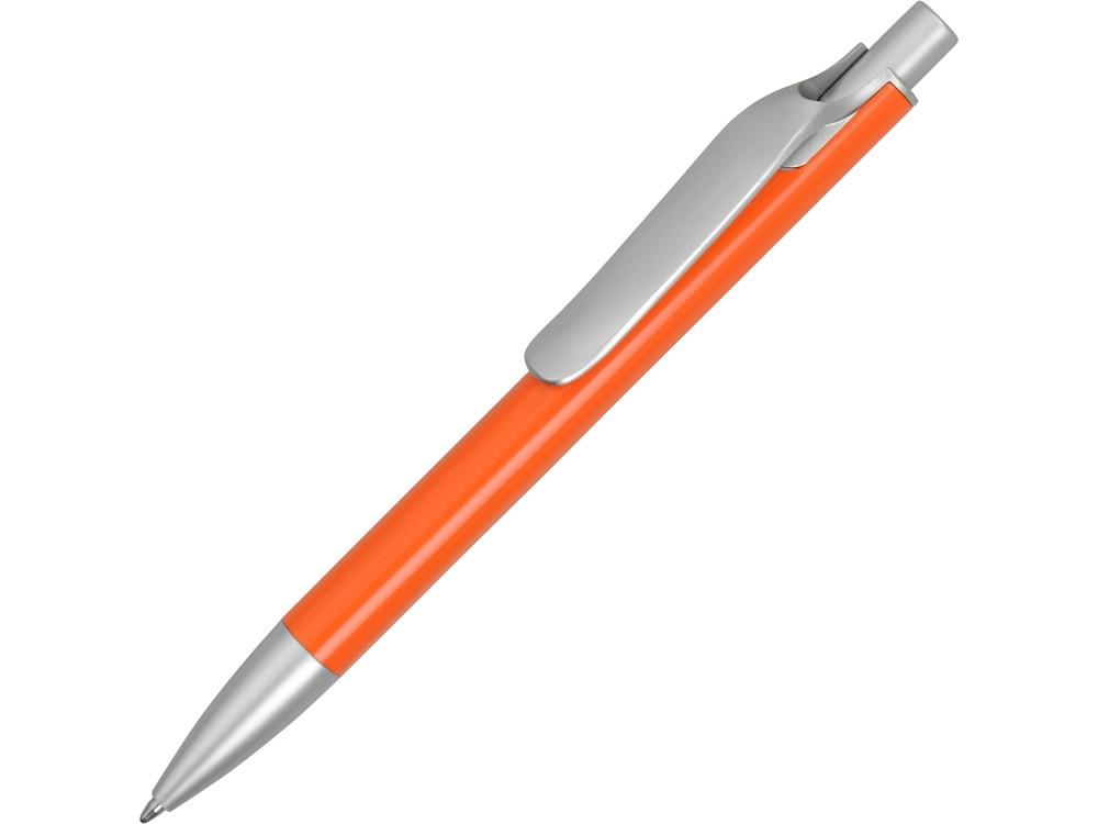 Ручка металлическая шариковая Large, оранжевый/серебристый