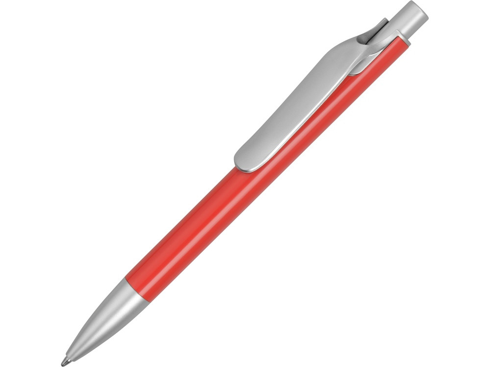 Ручка металлическая шариковая Large, красный/серебристый