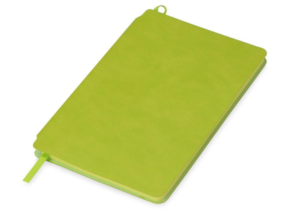 Блокнот Notepeno 130x205 мм с тонированными линованными страницами, зеленое яблоко