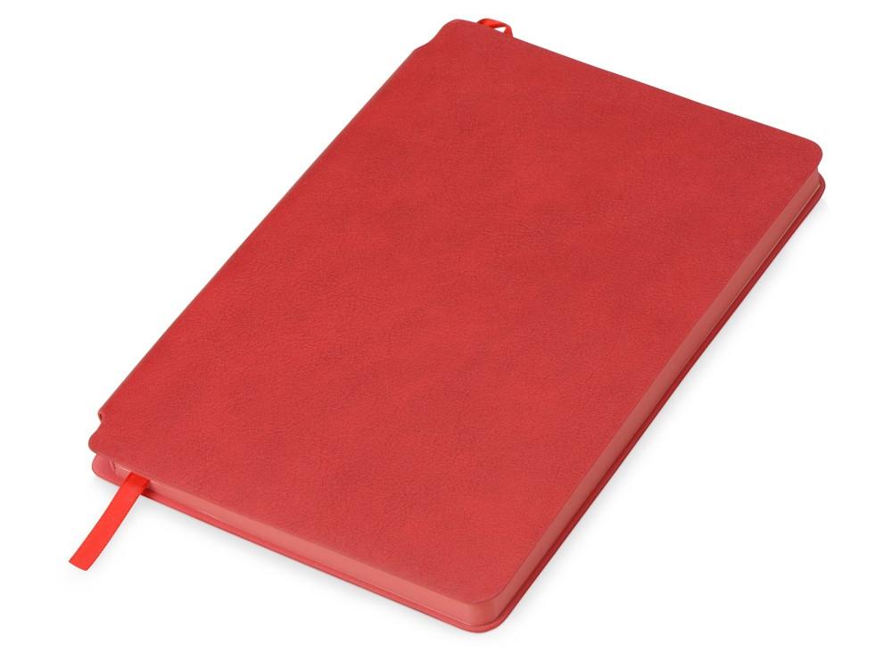Блокнот Notepeno 130x205 мм с тонированными линованными страницами, красный
