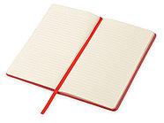 Блокнот Notepeno 130x205 мм с тонированными линованными страницами, красный, фото 3