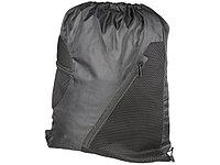 Спортивный рюкзак из сетки на молнии, черный