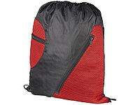 Спортивный рюкзак из сетки на молнии, красный