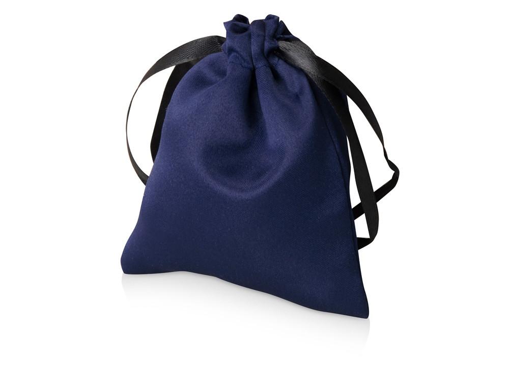 Мешочек подарочный сатиновый S, темно-синий