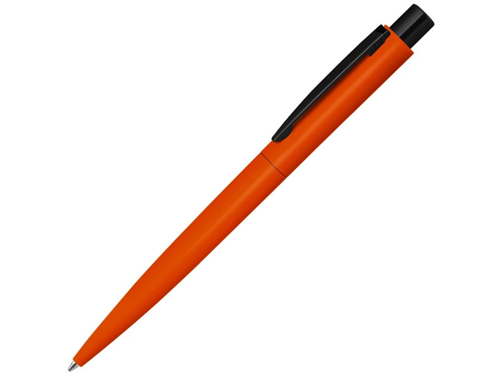 Ручка шариковая металлическая LUMOS M soft-touch, оранжевый/черный