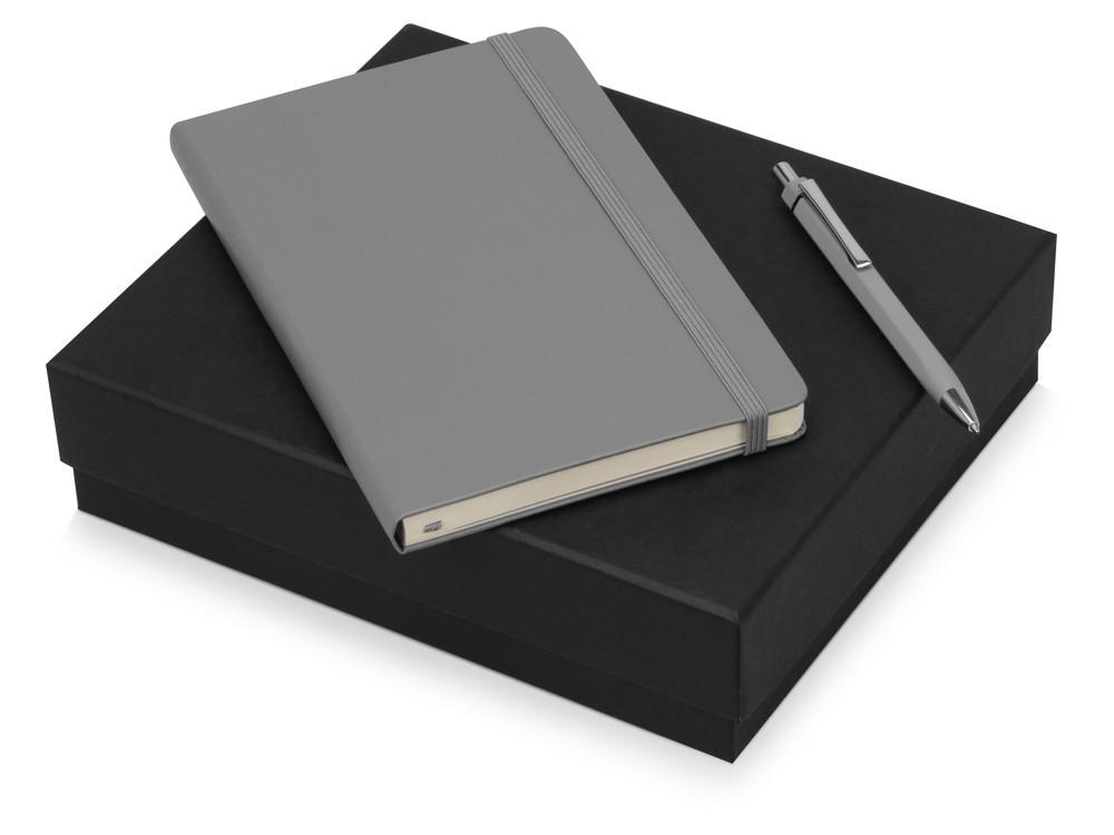 Подарочный набор Moleskine Hemingway с блокнотом А5 и ручкой, серый