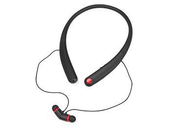 Беспроводные наушники с микрофоном Soundway, черный/красный