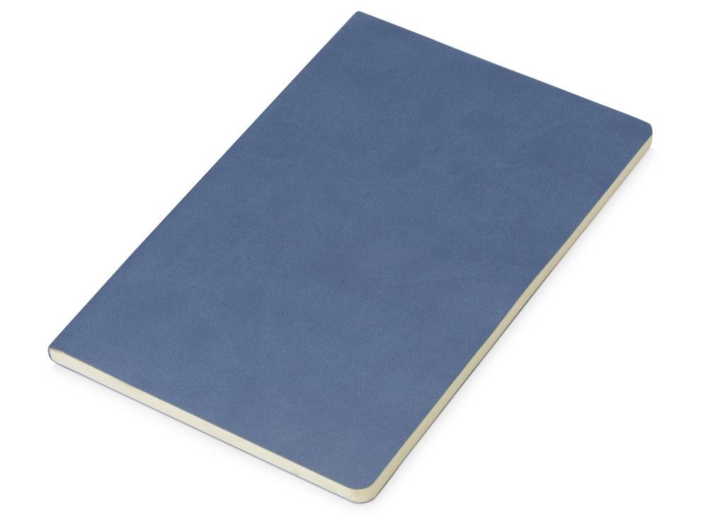 Блокнот Wispy линованный в мягкой обложке, темно-синий