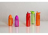 Бутылка для воды со складной соломинкой Kidz 500 мл, зеленое яблоко, фото 6