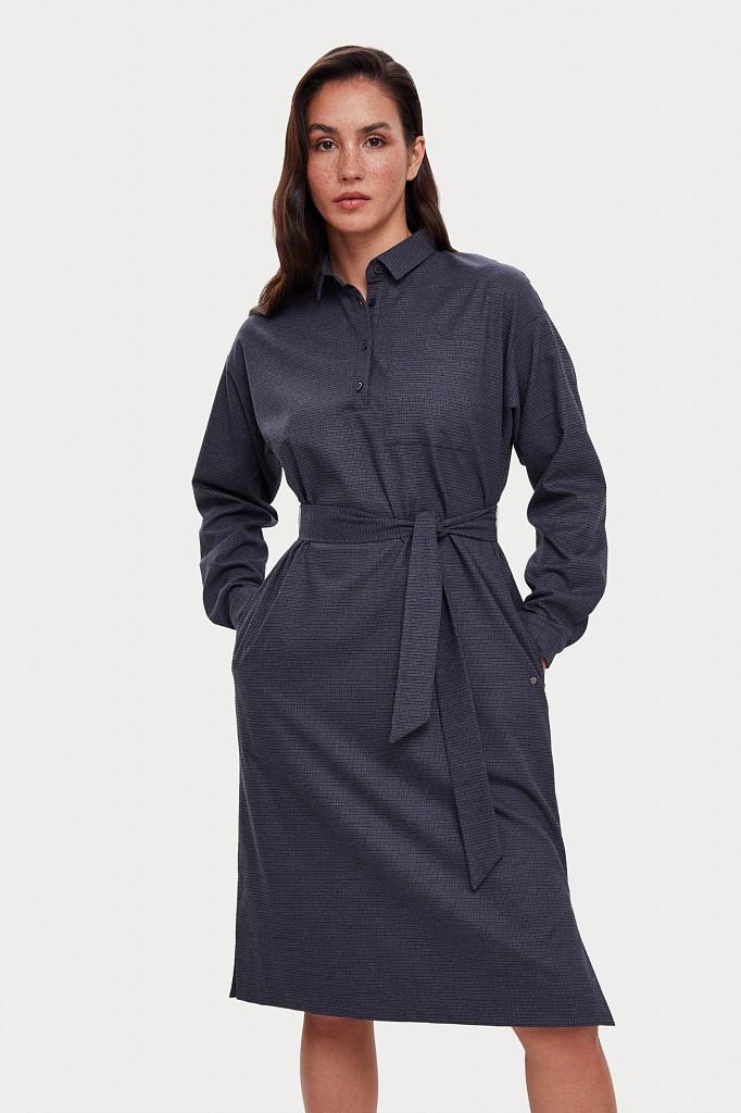 Платье женское Finn Flare, цвет голубой, размер M - фото 2