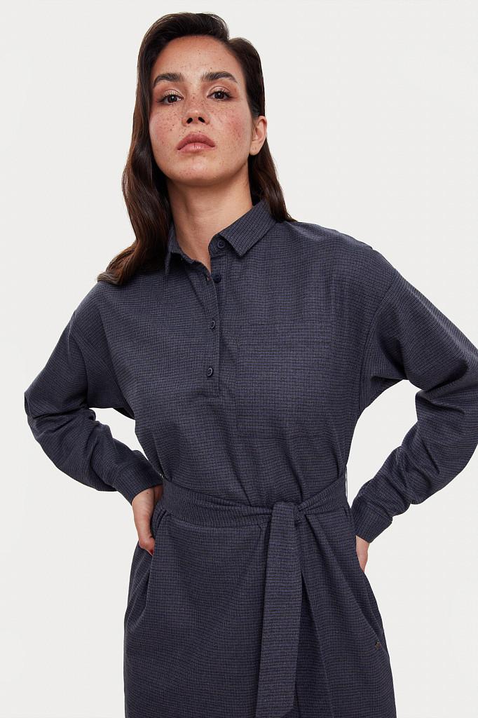 Платье женское Finn Flare, цвет голубой, размер M - фото 6