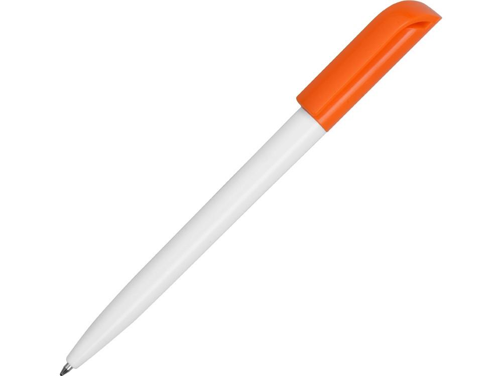 Ручка пластиковая шариковая Миллениум Color CLP, белый/оранжевый