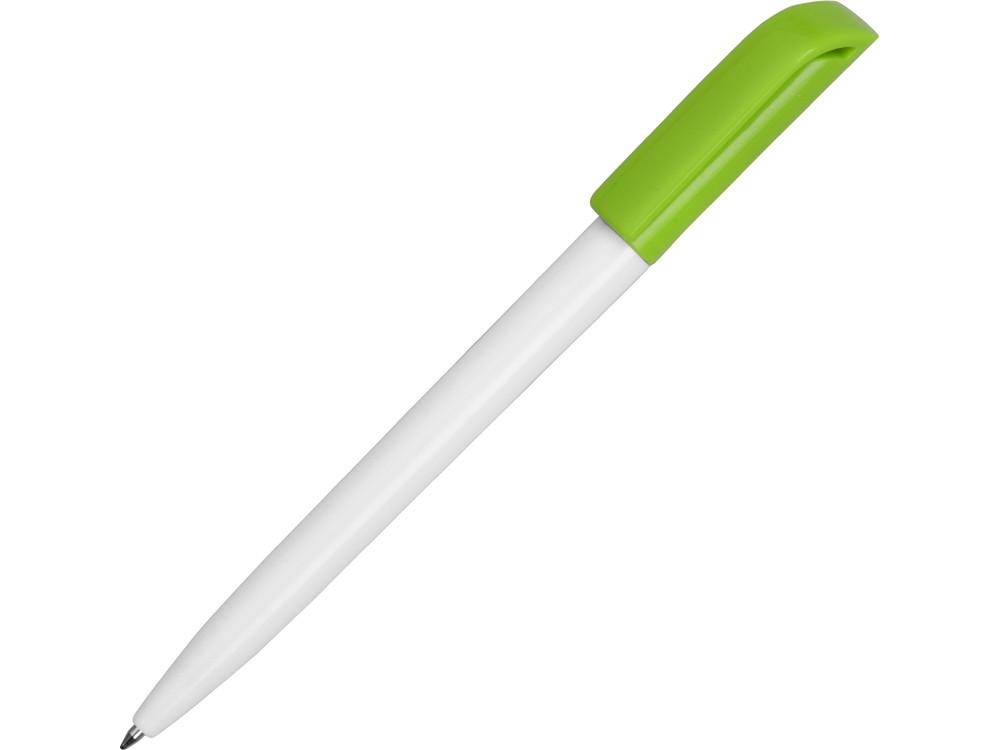 Ручка пластиковая шариковая Миллениум Color CLP, белый/зеленое яблоко