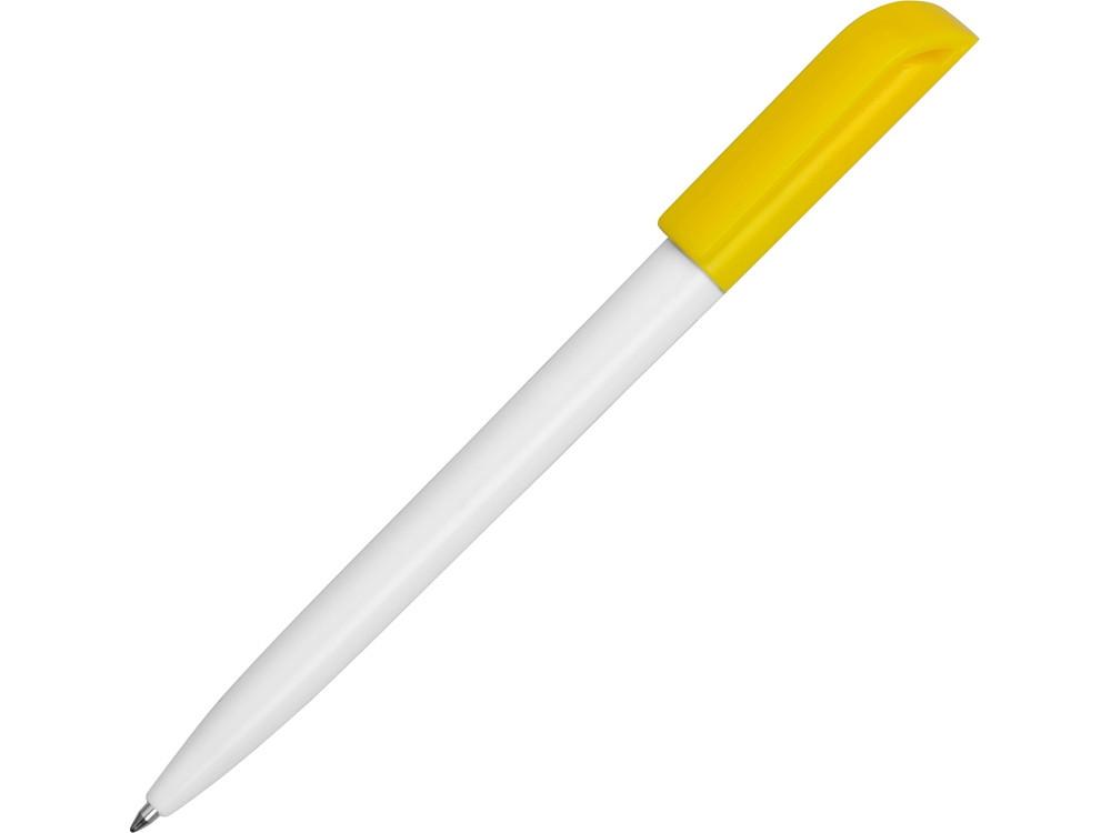 Ручка пластиковая шариковая Миллениум Color CLP, белый/желтый