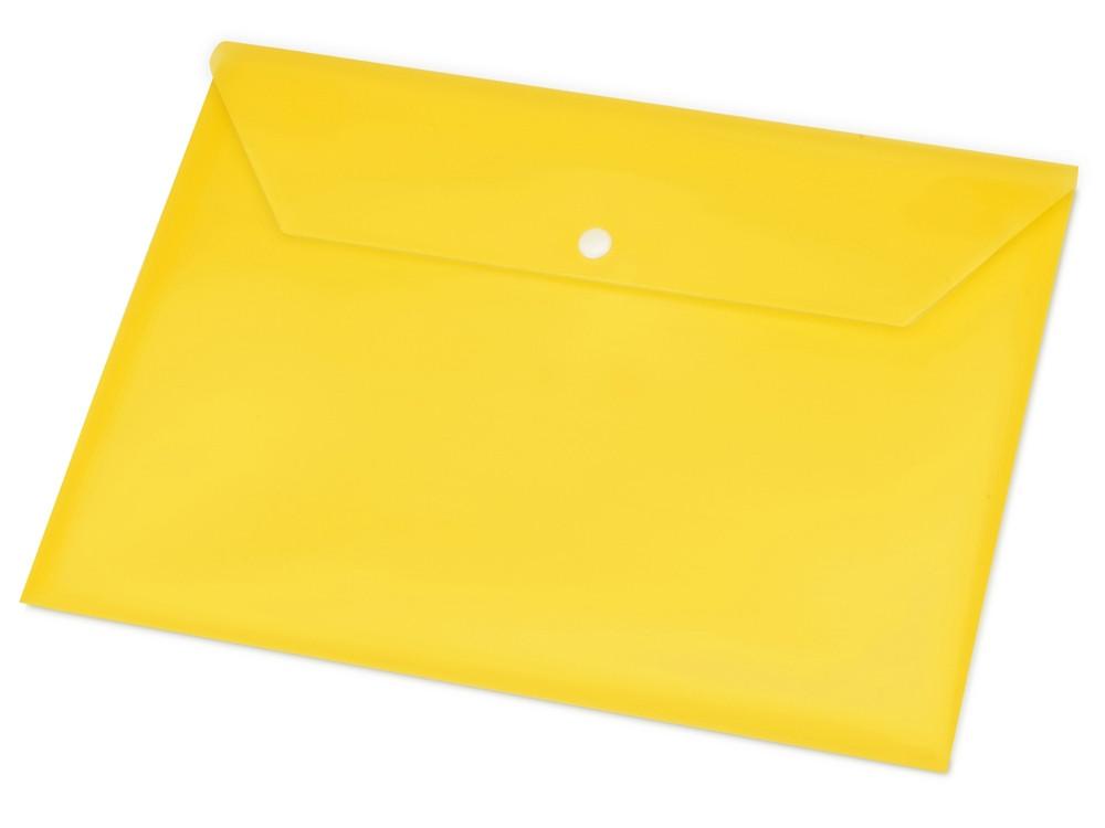 Папка-конверт А4 с кнопкой, желтый