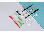 Ручка картонная с колпачком Recycled, белый, фото 5