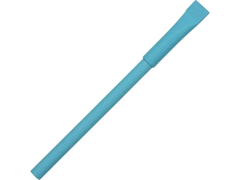 Ручка картонная с колпачком Recycled, голубой