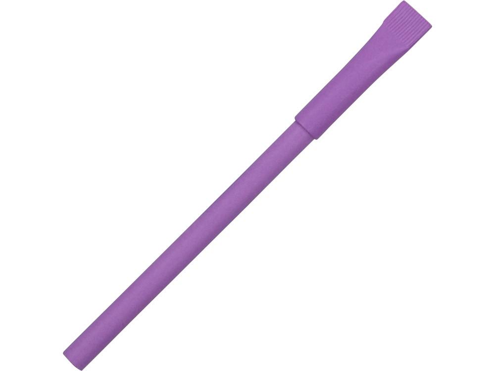 Ручка картонная с колпачком Recycled, фиолетовый