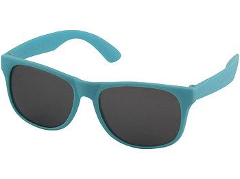 Солнцезащитные очки Retro - сплошные, голубой