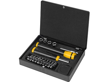 Набор инструментов 18 предметов, черный/серебристый