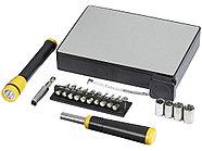 Набор инструментов 18 предметов, черный/серебристый, фото 2
