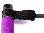 Палка гимнастическая с эспандерами Pilates Studio, черный/фиолетовый, фото 5
