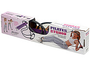 Палка гимнастическая с эспандерами Pilates Studio, черный/фиолетовый, фото 7