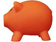 Копилка Поросенок, оранжевый, фото 3