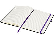 Блокнот Noir среднего размера, черный/пурпурный, фото 4