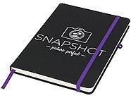 Блокнот Noir среднего размера, черный/пурпурный, фото 5