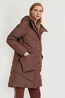 Пальто женское Finn Flare, цвет темно-коричневый, размер M
