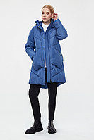 Пальто женское Finn Flare, цвет голубой, размер XL