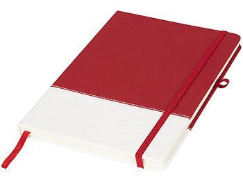 Блокнот А5 двухцветный, красный/белый