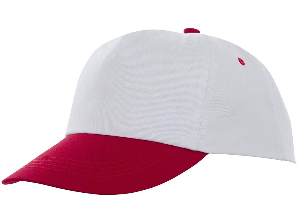 Пятипанельная двухцветная кепка Icarus, белый/красный